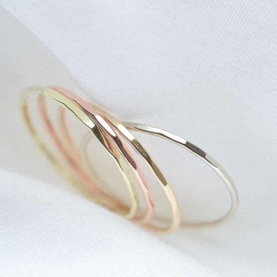 SOURCE GOLD STACKING RING
